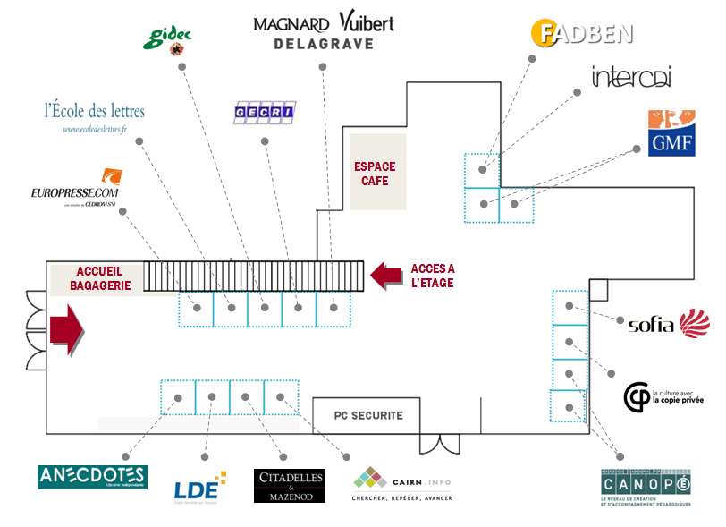 Plan du salon des exposants